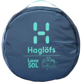 Haglöfs Lava 50 Duffel Bag blue ink/crystal lake